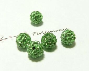 10 pearls 6mm Green quality shambala