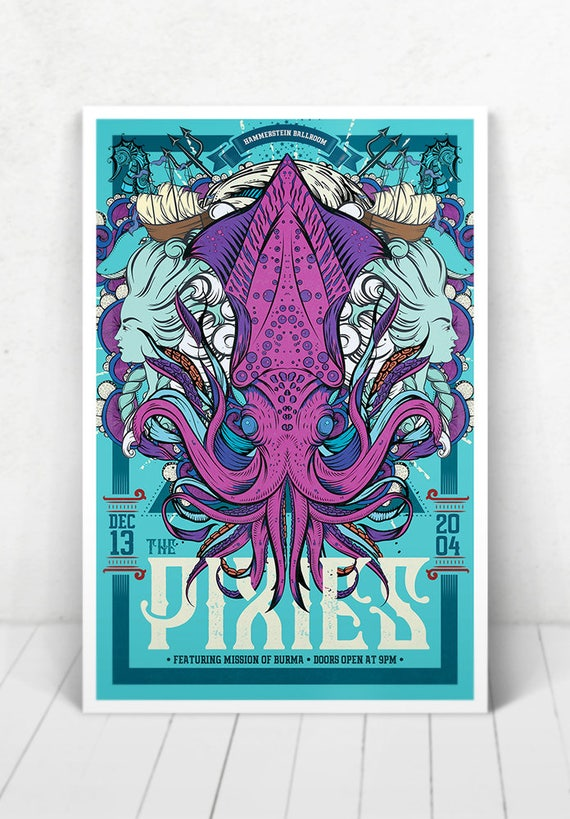 The Pixies Concert Poster - Illustration [The Pixies / Hammerstein Ballroom New York, NY - Dec 13, 2004]