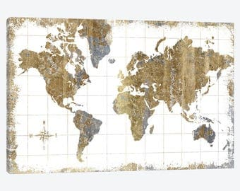 World map canvas etsy world map canvas world map art map of the world art print retro gumiabroncs Choice Image