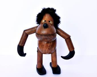 Danish Teak wood Monkey  or Caveman - Ref: Kay Bojesen / Hans Bolling
