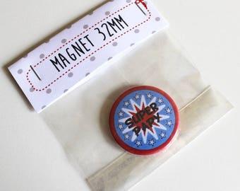 32mm Super Grandpa magnet