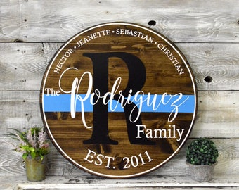 """24"""" Round Rustic Painted Wood Sign"""