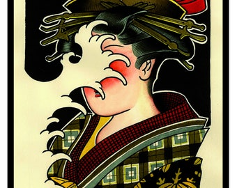 "Tattoo Print ""Gyoza 3"" Johnny BARREL"