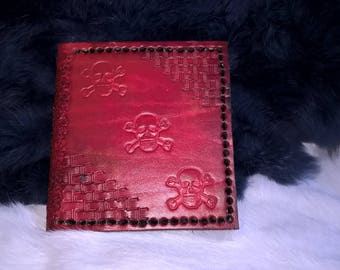 case personalized leather card holder
