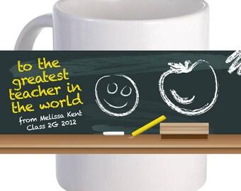 To the Greatest Teacher Coffee Mug With Custom Printed Name Message