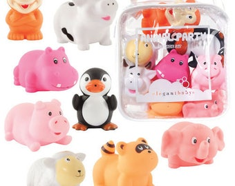 Beautiful Colourful Animal Themed Party And Bath Water Squirties