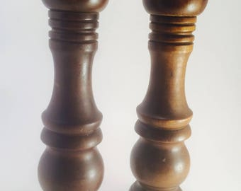 Solid wood Salt and Pepper