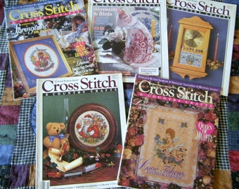 Cross Stitch & Country Crafts Magazines! We also have Corn Bags, Baby Quilts, Dog Quilts, Dog Toys, Quilt Art,  and more vintage treasures!