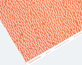 Anemone Wrapping Paper - Orange