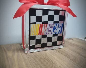 Nascar 8x8 lighted glass block