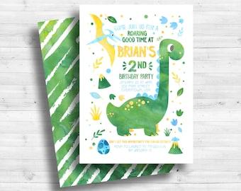 Dinosaur Birthday invitation, Dinosaur Birthday, Dinosaur Party, Watercolor, Dino Invitation, Dinosaur Party Invitation, Dinosaur Printable