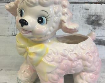 Vintage Pink Lamb Planter