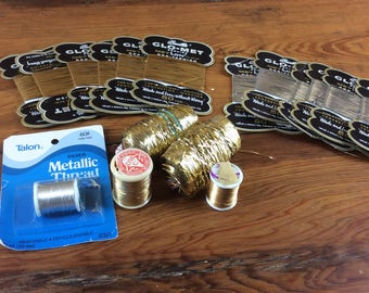 large lot of various gold and silver threads