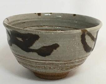 Christmas in July Sale Japanese Vintage Chawan / Matcha Chawan Bowl/  Green Tea Bowl / Japanese Ceramics / Handmade Pottery / Handmade Ceram