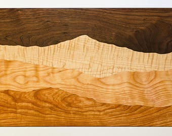 Storm Over the Mountain cutting board