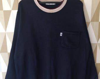 Rare 90s Peirre Bailman vent vent sweatshirt pullover Designer L size