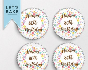 ANY AGE,birthday,cupcake topper,cake topper,birthday cupcake topper,birthday cake topper,edible,cake decoration,cake,cupcake,rice paper,