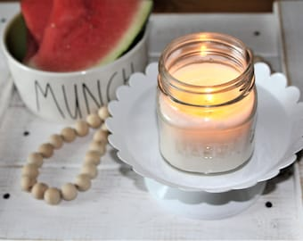 Watermelon, Hand Poured Soy Candle