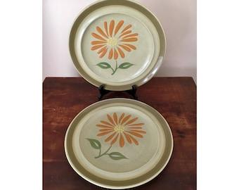 Retro flower dinner plates