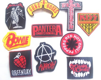 Lot of 10 Sew Iron On Patch Wholesale Band Music Rock Metal Heavy Pop Punk FREE Ship From USA