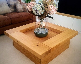 Oak sleeper Coffee Table. wooden coffee table, table, wood coffee table, sleeper coffee table