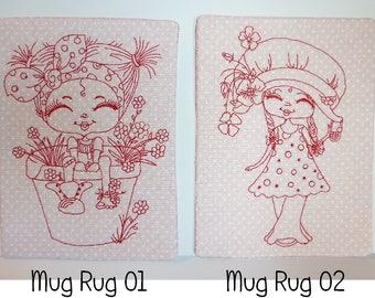 Fabric Mug Rug, Coaster