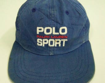 Rare Vintage POLO SPORT Ralph Lauren Hat Cap, Spell out logo, embroidered logo