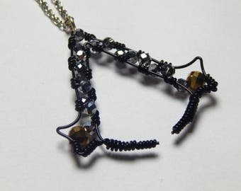 Assassins Creed Necklace, Wire Wrapped Necklace, Gaming Jewelry