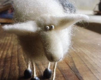Easter gift, Needle Felted Sheep, barnyard animals, lamb, needle felted animals
