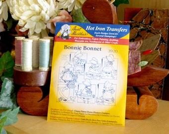 Aunt Martha's Hot Iron Transfers #3920 Bonnie Bonnet