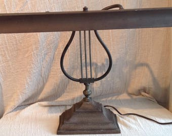 Antique music lamp for piano vintage 1940's
