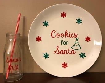 Santas Cookies and Milk