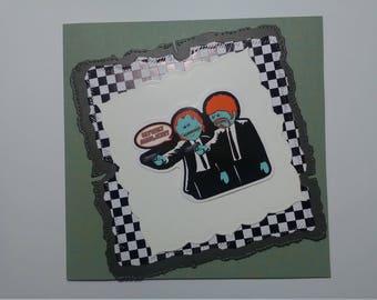 Handmade Rick and Morty's meeseeks card