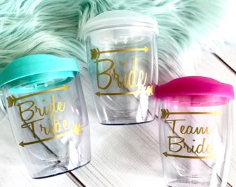 Bride Tribe Tumbler, bachelorette party tumbler, Personalized Gift Tumbler, Bridal Party Gift Cup, Bridesmaid gift tumbler, Stemless Wine cu