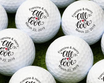 All For Love Personalized Golf Balls - Bulk Price Available (MIC-JM8739805)