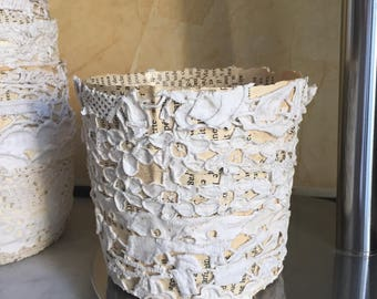Embroidery Cup / paper mache