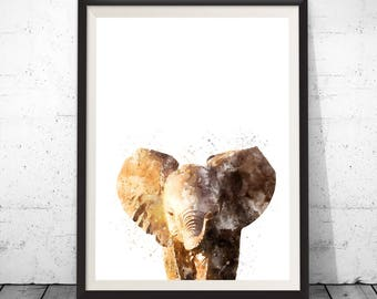 Elephant Print, Nursery Animal Print, Kids Room Decor, Safari Baby Shower, Kids Room Art Print, Boys Room, Safari Nursery Wall Art Decor
