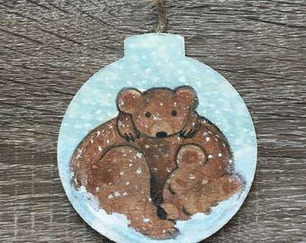 Snowy Bear Ornament