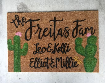 Cactus Doormat | Personalized Doormat