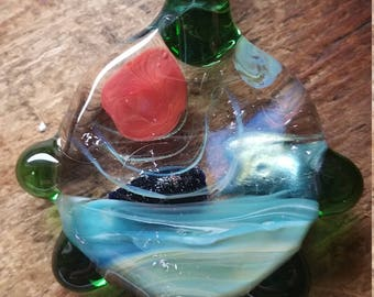 Clear Space Galaxy Glass Pendant
