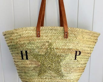Sequin Star Personalised Basket