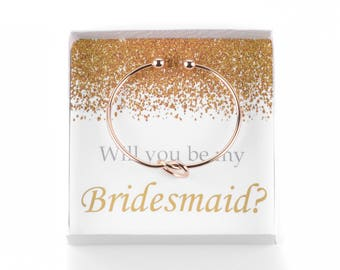 Will You Be My Bridesmaid Bracelet Box, Bridesmaid Proposal, Maid of Honor, Be My Bridesmaid Gift, Wedding Party Gifts, Ask Bridesmaids