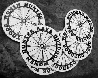 Hunter Area Outdoor Women, stickers