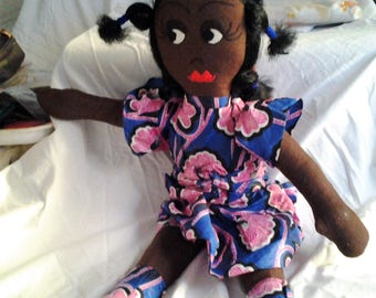 Black Rag Doll - Vintage