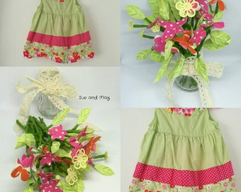 Treasured Memory Flowers Template, CUSTOM MADE, Pepper Pot Posy, 23 Fabric Flowers, 26 leaves and 13 stems, Made from Sentimental Clothing