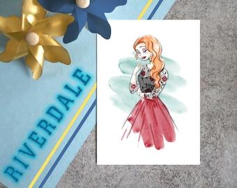 Map postcard Cheryl Riverdale