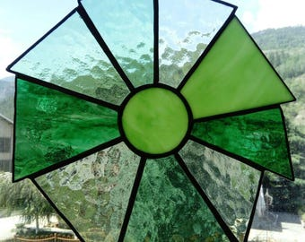 Acchiappasole glass SunCatcher welded tiffany Green