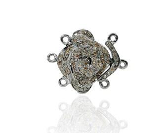 SDC1937 Multi strand clasp Pave Diamond Charm