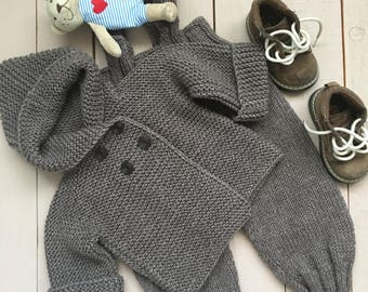 NEW!!!!  Baby cardigan with a hood