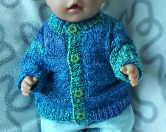Hand-knit cardigan for babydoll